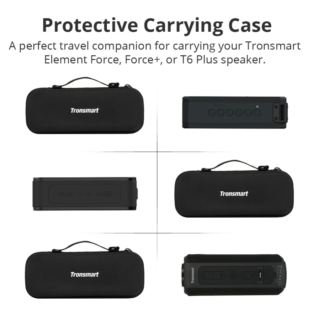 bluetooth-speakers Tronsmart Durable Protective Carrying Case Hard Travel Bag Cover for Element Force/Force+/T6 Plus Bluetooth Speakers Tronsmart Element Force Force T6 Plus Case 1