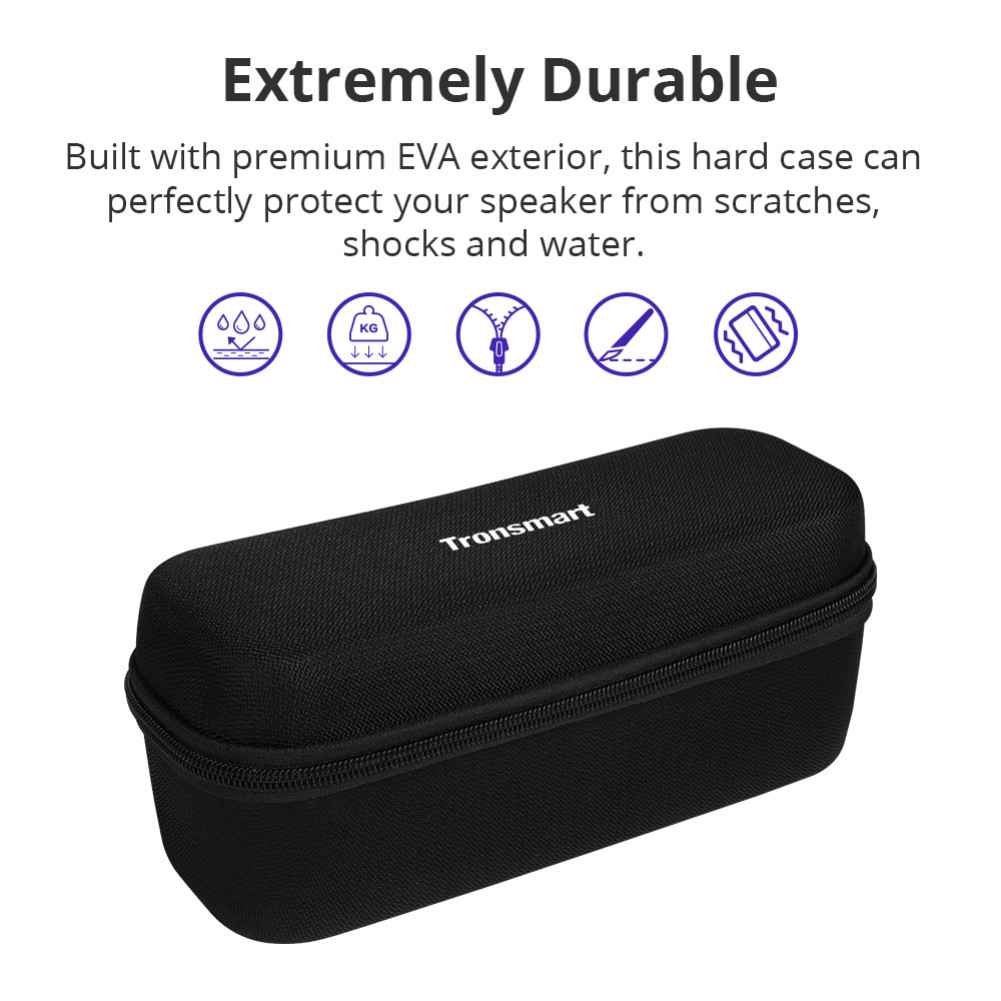 bluetooth-speakers Tronsmart Durable Protective Carrying Case Hard Travel Bag Cover for Element Force/Force+/T6 Plus Bluetooth Speakers Tronsmart Element Force Force T6 Plus Case 2