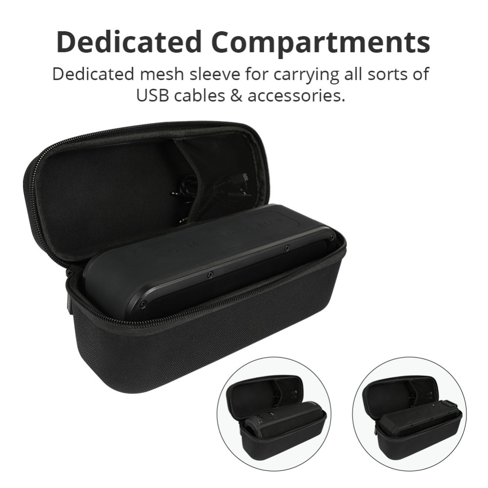 bluetooth-speakers Tronsmart Durable Protective Carrying Case Hard Travel Bag Cover for Element Force/Force+/T6 Plus Bluetooth Speakers Tronsmart Element Force Force T6 Plus Case 3