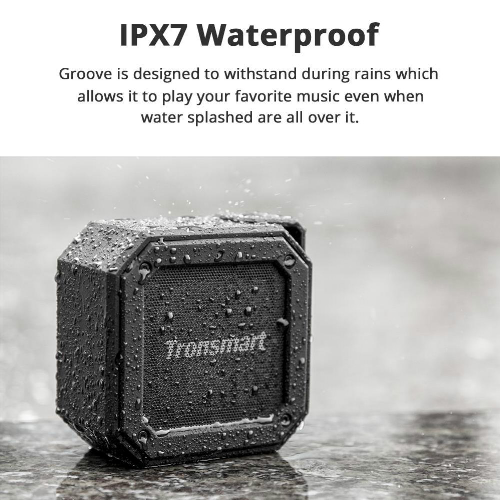 bluetooth-speakers Tronsmart Element Groove(Force Mini) Portable Bluetooth Speaker IPX7 Water-resistant 24 Hours Playtime Superior Bass-Black Tronsmart Element Groove Bluetooth Speaker Black 2