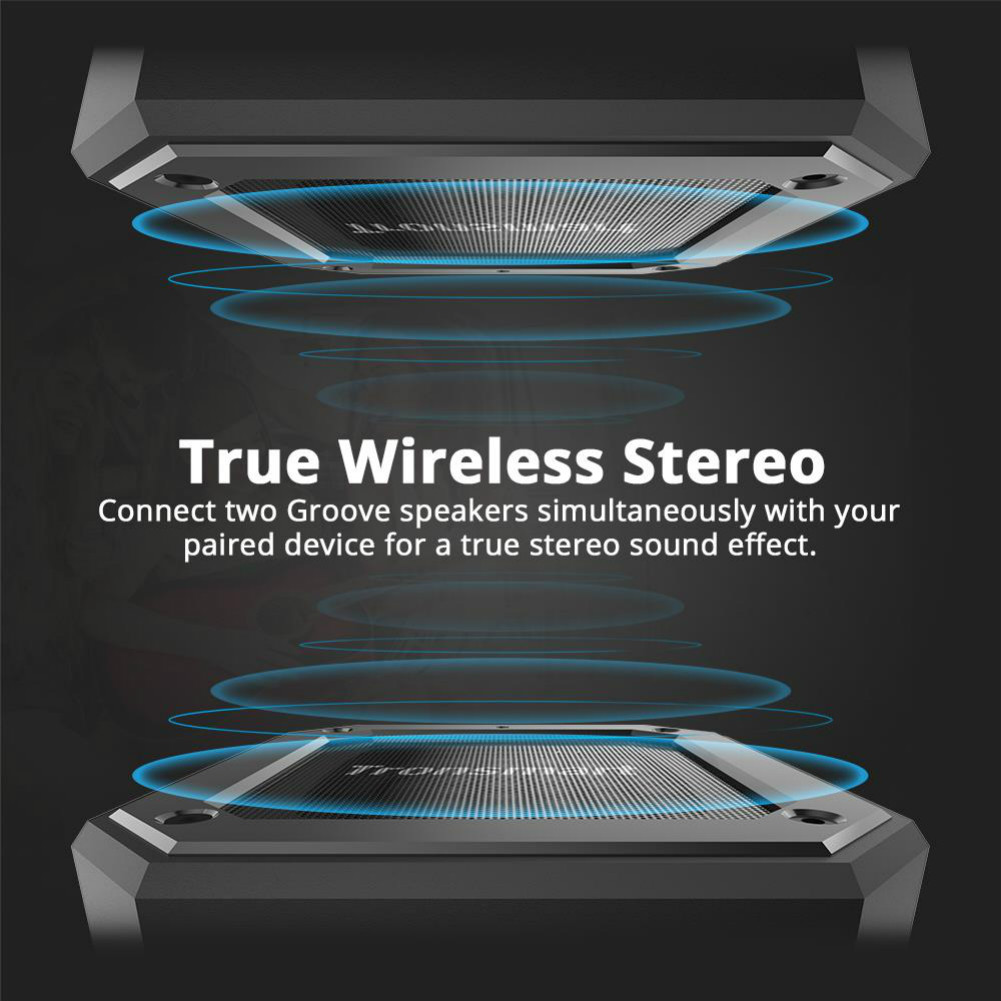 bluetooth-speakers Tronsmart Element Groove(Force Mini) Portable Bluetooth Speaker IPX7 Water-resistant 24 Hours Playtime Superior Bass-Black Tronsmart Element Groove Bluetooth Speaker Black 5