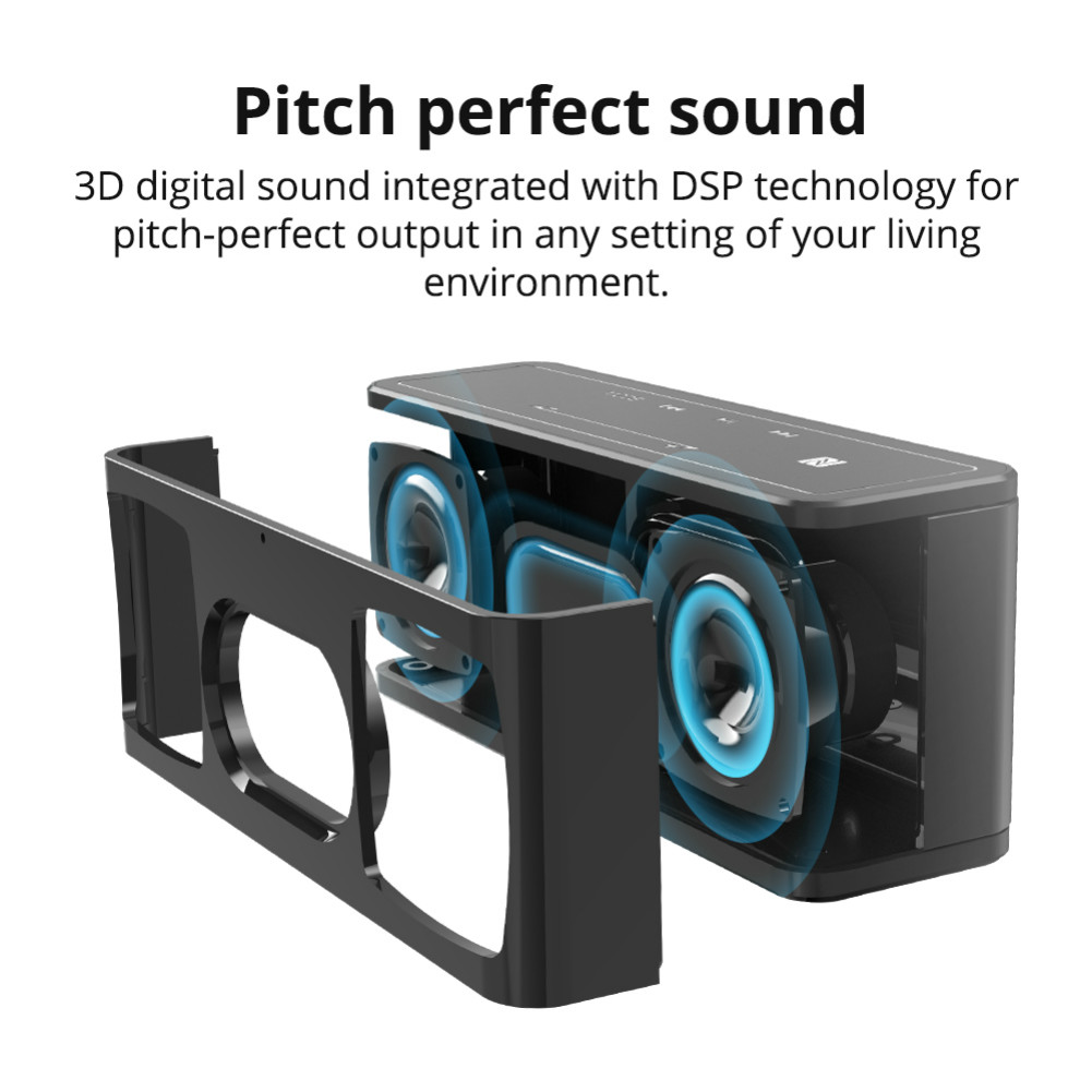 bluetooth-speakers Tronsmart Element Mega SoundPulse™ Bluetooth Speaker with Powerful 40W Max Output 3D Digital Sound TWS Intuitive Touch Control-Black Tronsmart Element Mega Bluetooth Speaker Black 4