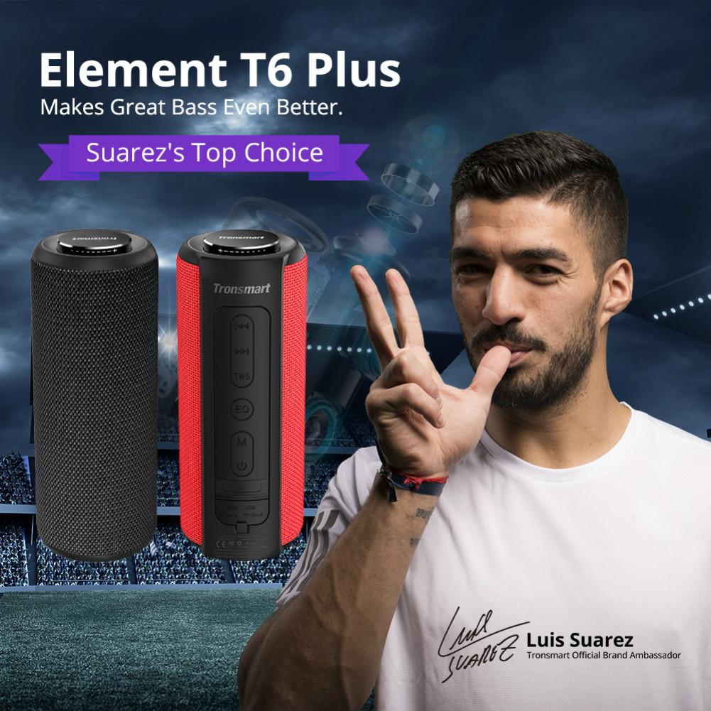bluetooth-speakers Tronsmart Element T6 Plus Portable Bluetooth 5.0 Speaker with 40W Max Output, Deep Bass, IPX6 Waterproof, TWS-Black Tronsmart element T6 plus Black 1