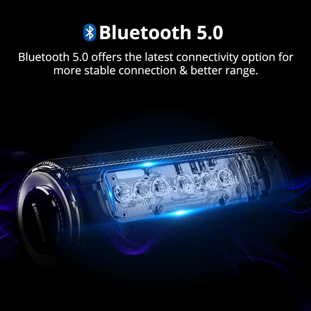 bluetooth-speakers Tronsmart Element T6 Plus Portable Bluetooth 5.0 Speaker with 40W Max Output, Deep Bass, IPX6 Waterproof, TWS-Black Tronsmart element T6 plus Black 8
