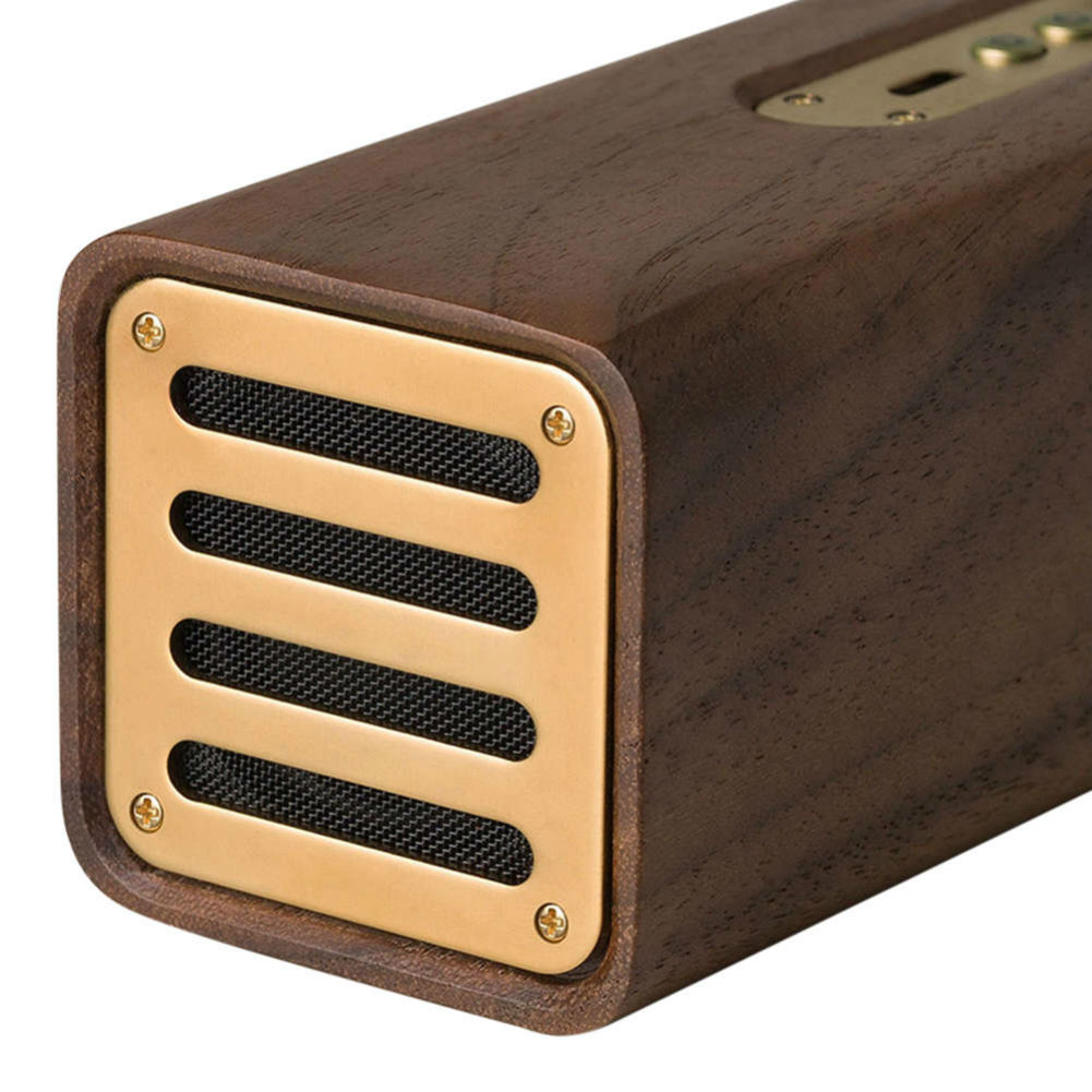 bluetooth-speakers Original Xiaomi Youpin Copper Woodism Portable Bluetooth Speaker Black Walnut Wood Smart Home Xiaomi Bluetooth speaker Black Walnut 2