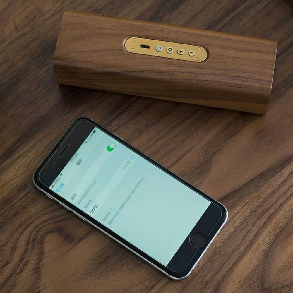 bluetooth-speakers Original Xiaomi Youpin Copper Woodism Portable Bluetooth Speaker Black Walnut Wood Smart Home Xiaomi Bluetooth speaker Black Walnut 4