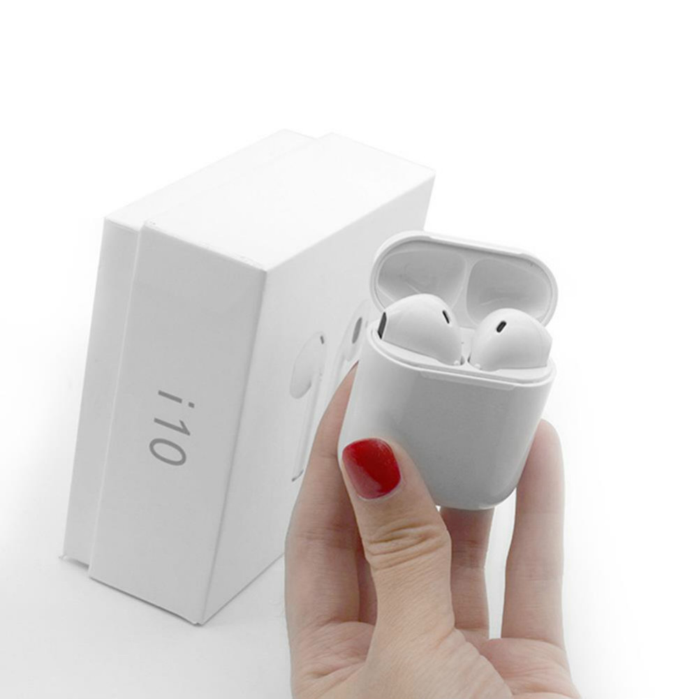 earbud-headphones i10 TWS Bluetooth 5.0 Earbuds Button Control About 4 Hours Working Time-White i10 TWS Bluetooth 5 0 Earbuds White 2 1