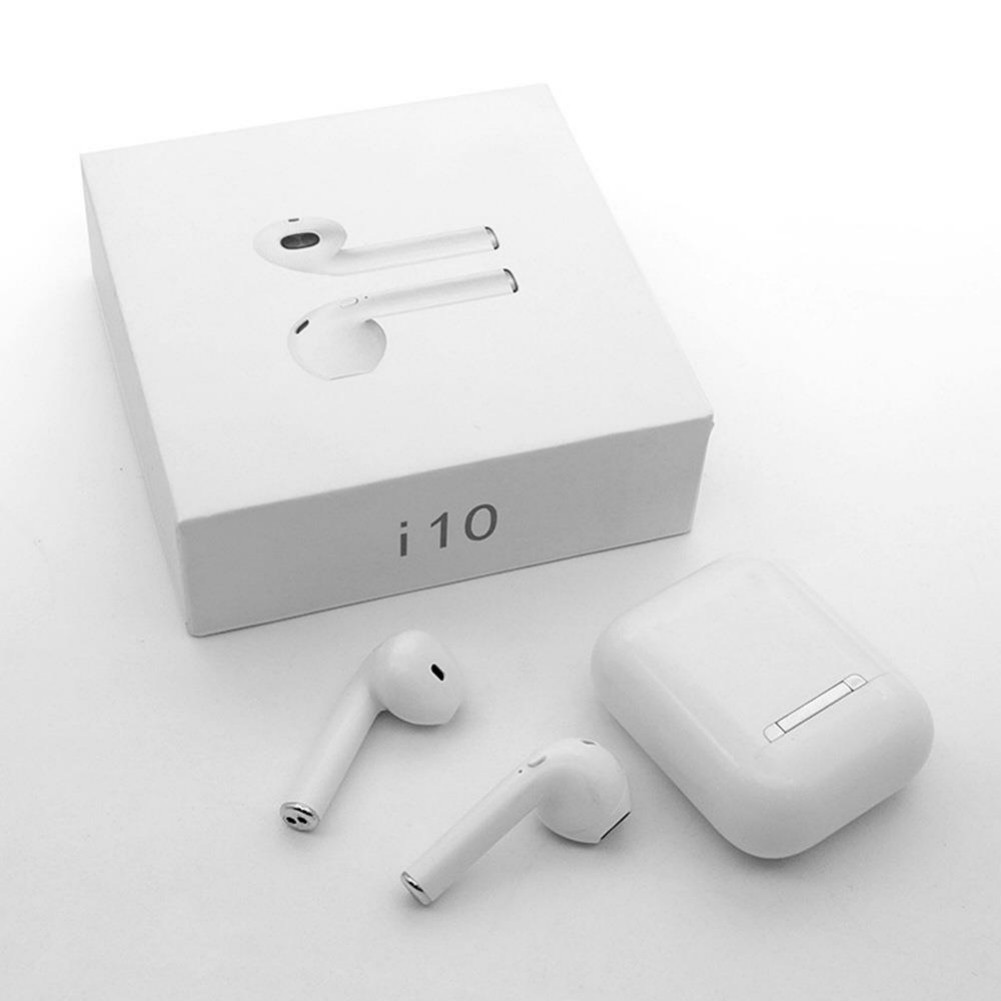 earbud-headphones i10 TWS Bluetooth 5.0 Earbuds Button Control About 4 Hours Working Time-White i10 TWS Bluetooth 5 0 Earbuds White 3 1