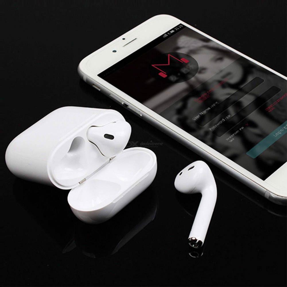 earbud-headphones i60 TWS Bluetooth 5.0 Earphone Touch Control Auto Pairing Call Siri 350 mAh Charging Box-White I60 TWS Bluetooth 5 0 Earphone White 3