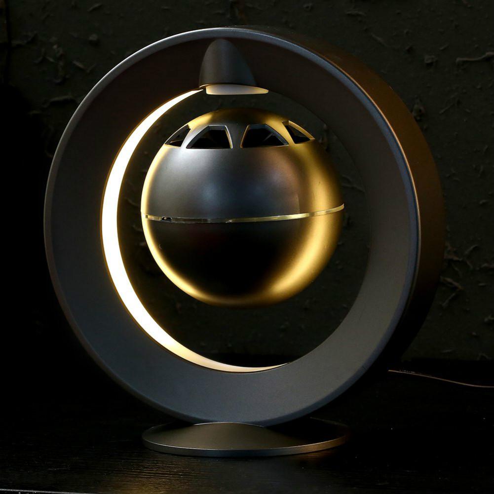 bluetooth-speakers C1 Bluetooth Magnetic Suspension Speaker HD Surround Sound LED Light Base-Black M1 Magnetic Suspension Speaker Bluetooth 3