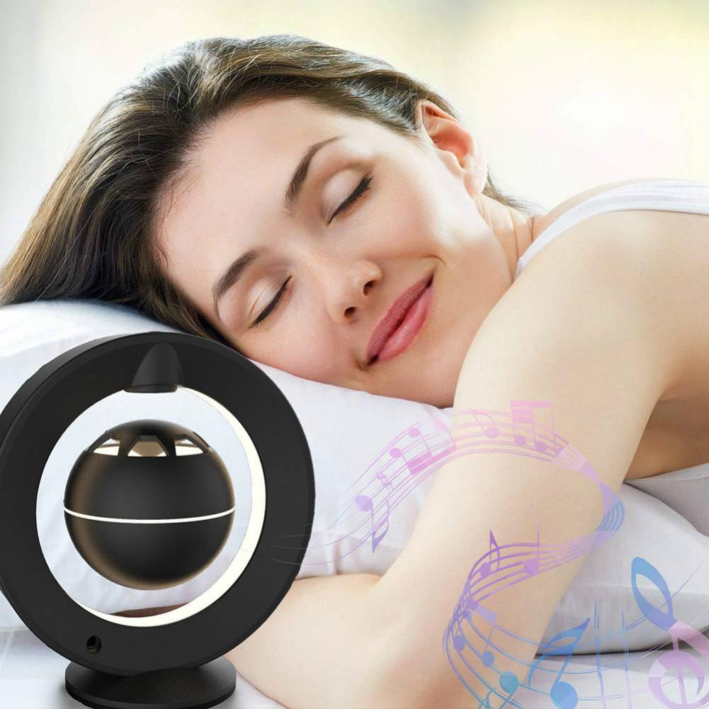 bluetooth-speakers C1 Bluetooth Magnetic Suspension Speaker HD Surround Sound LED Light Base-Black M1 Magnetic Suspension Speaker Bluetooth 4