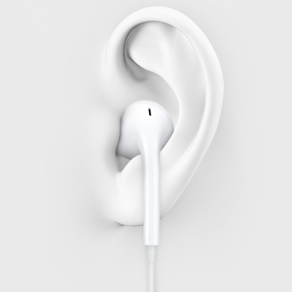 earbud-headphones MH135 Wired Semi-in-ear Earphone HD Sound With Mic-White MH135 Wire Semi in ear Earphone White 2