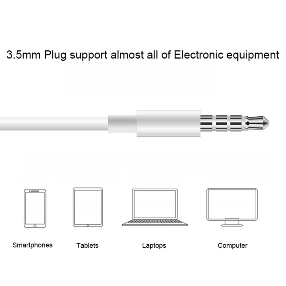 earbud-headphones MH135 Wired Semi-in-ear Earphone HD Sound With Mic-White MH135 Wire Semi in ear Earphone White 4