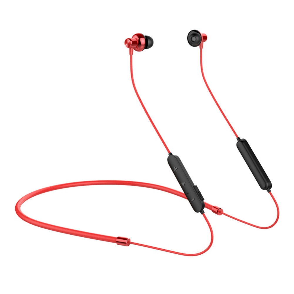earbud-headphones OVEVO X10 Bluetooth 4.2 90mAh HIFI Sound Anti-shedding Sports Wired Earphone With Charging Case 500mAh-Black and Red OVEVO X10 Bluetooth Earphone