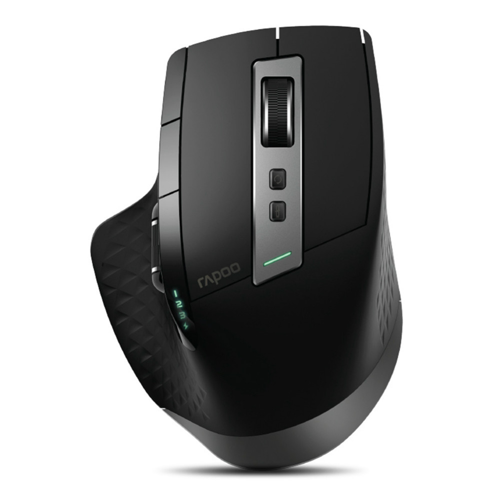 wireless-mouse-Rapoo MT750S Multimode Wireless Laser Mouse 2.4GHz Bluetooth 3.0/4.0 3200DPI for Four Devices Connection-Black-Rapoo MT750S Multimode Wireless Laser Mouse Black