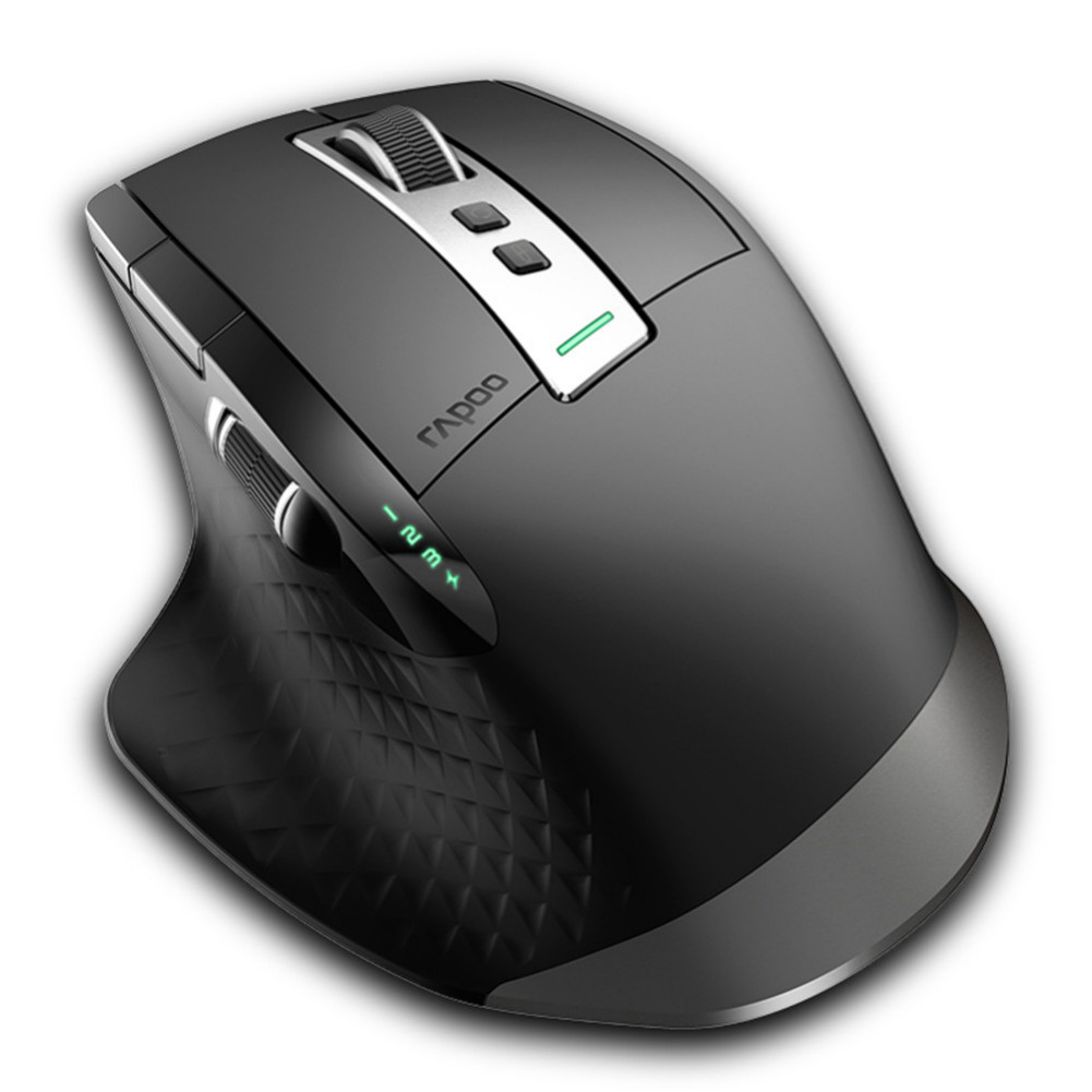 wireless-mouse-Rapoo MT750S Multimode Wireless Laser Mouse 2.4GHz Bluetooth 3.0/4.0 3200DPI for Four Devices Connection-Black-Rapoo MT750S Multimode Wireless Laser Mouse Black 3