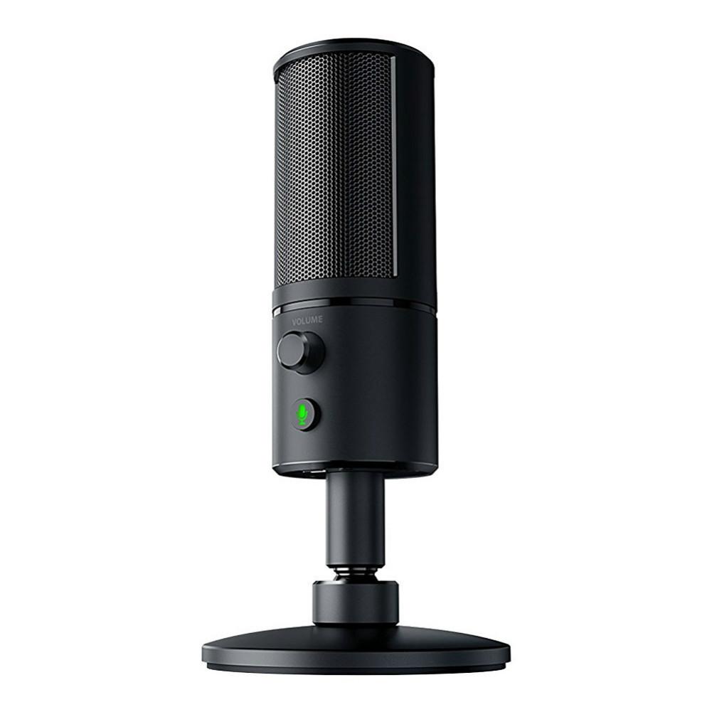 microphones Razer Seiren X Desktop Condenser Microphone Effective Noise Reduction Plug And Play-Black Razer Seir n X Desktop Microphone