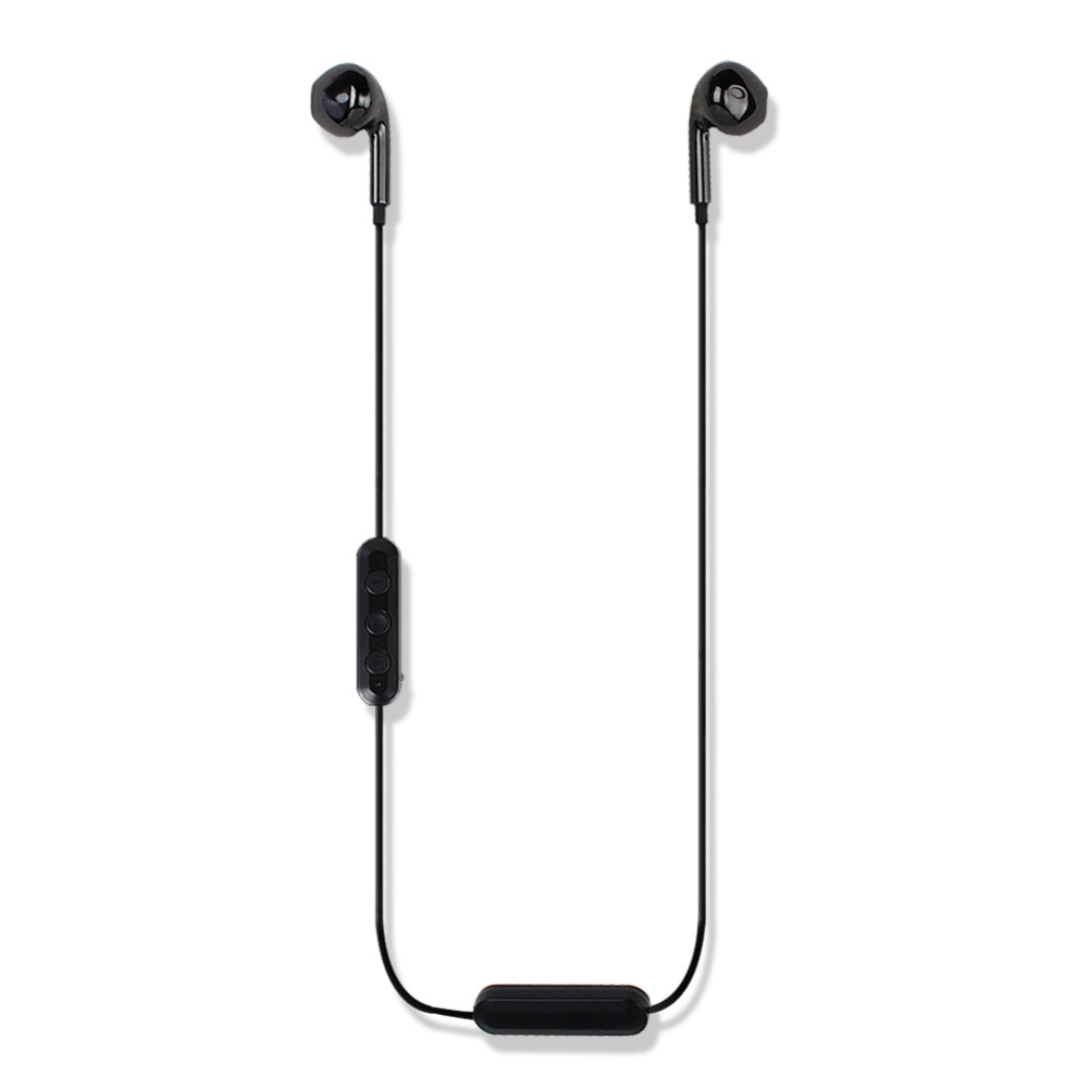 earbud-headphones I9S Wired Earphone Semi-in-ear Bluetooth 4.2 Neck-mounted for Sport Running-Black Semi in ear Wired Earphone Black 5
