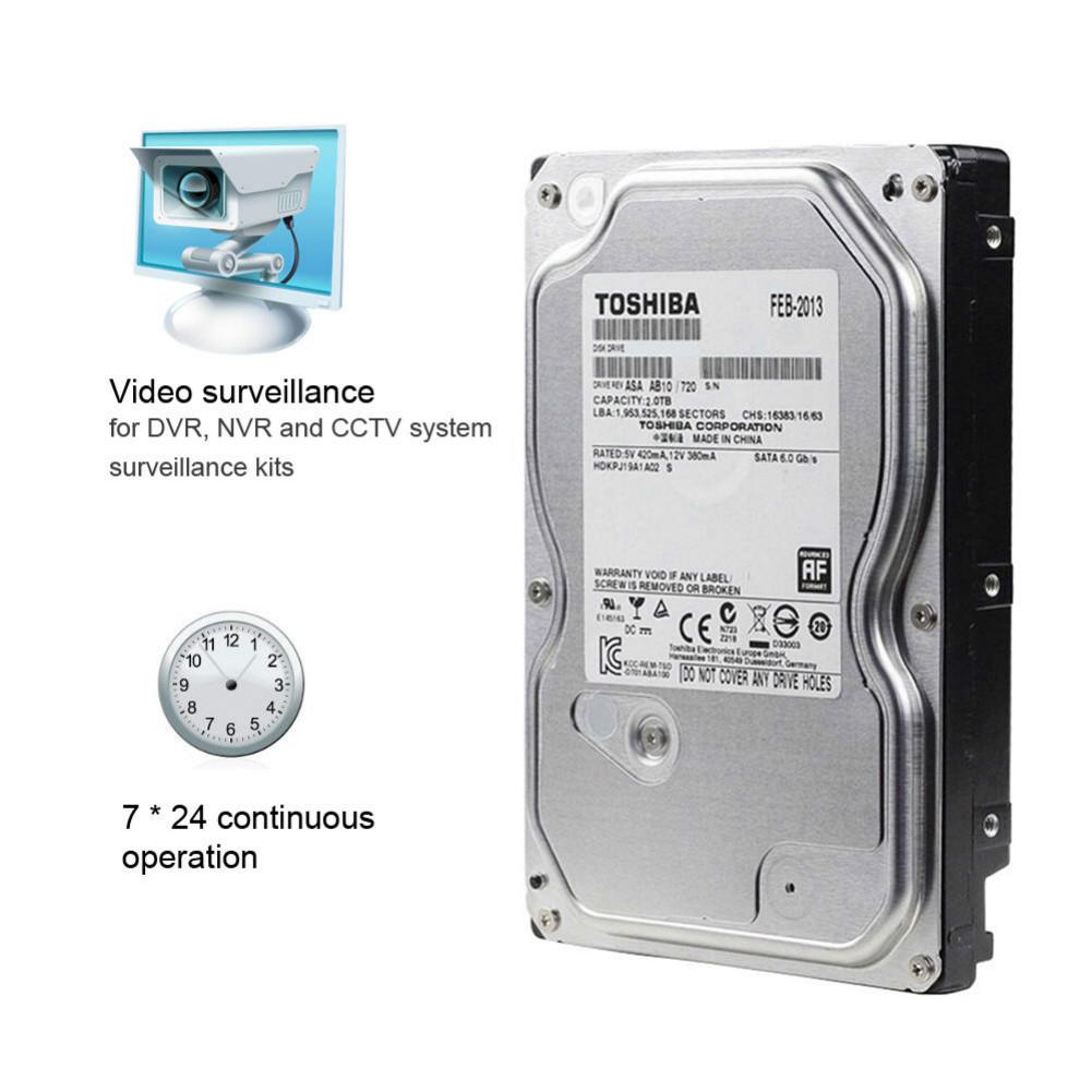 storage TOSHIBA DT01ABA200V 2TB Surveillance Specialised Storage 3.5 Inch HDD SATA3 5700 RPM-Silver TOSHIBA DT01ABA200V 2TB HDD Silver 5