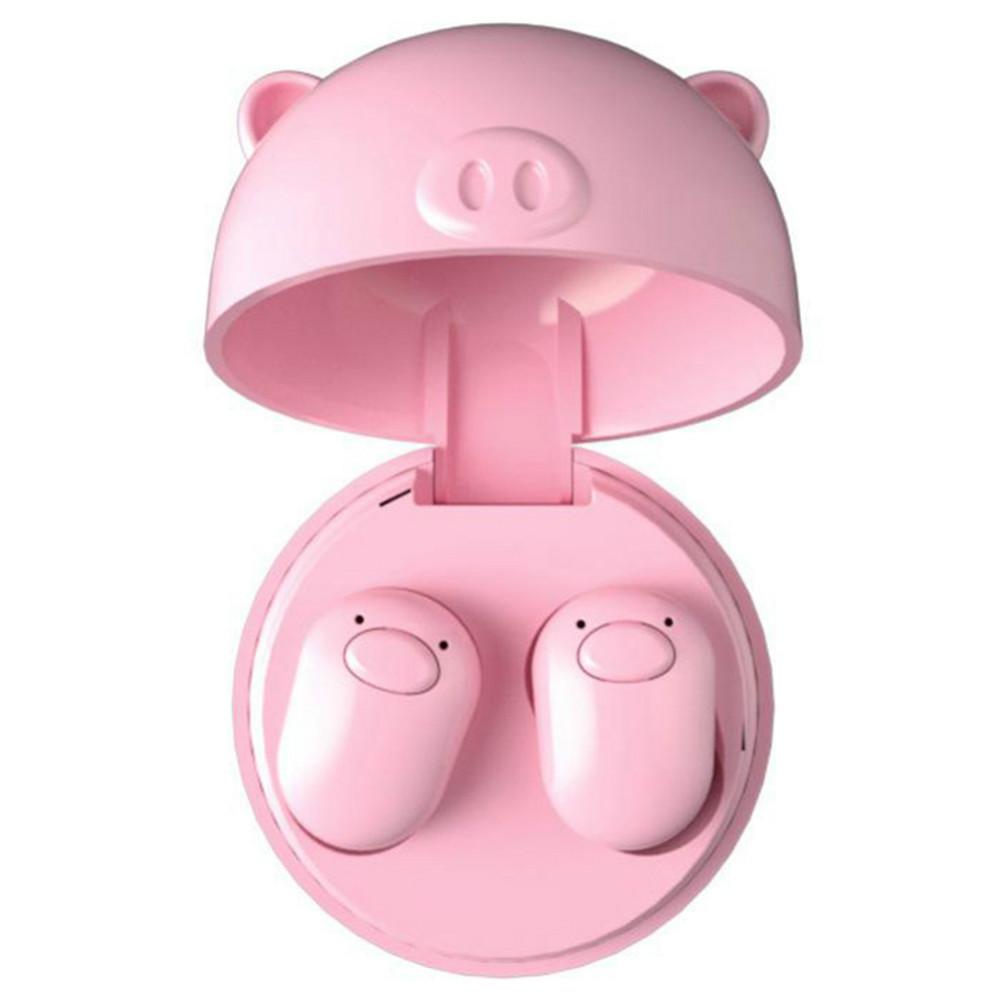 earbud-headphones S620 TWS Bluetooth 5.0 Mini Pig Earphone Wireless 50mAh Battery-Pink TWS S620 Bluetooth Earphone