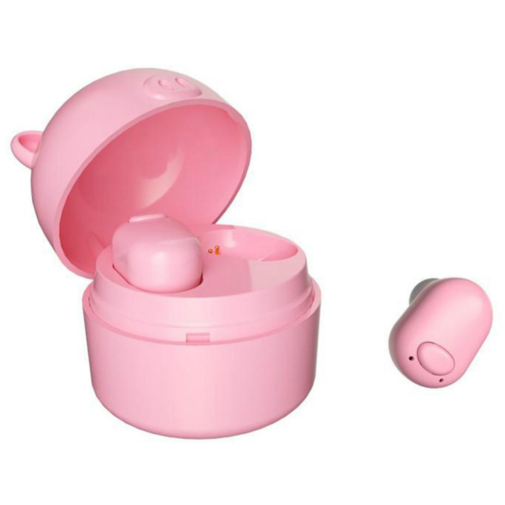earbud-headphones S620 TWS Bluetooth 5.0 Mini Pig Earphone Wireless 50mAh Battery-Pink TWS S620 Bluetooth Earphone 1