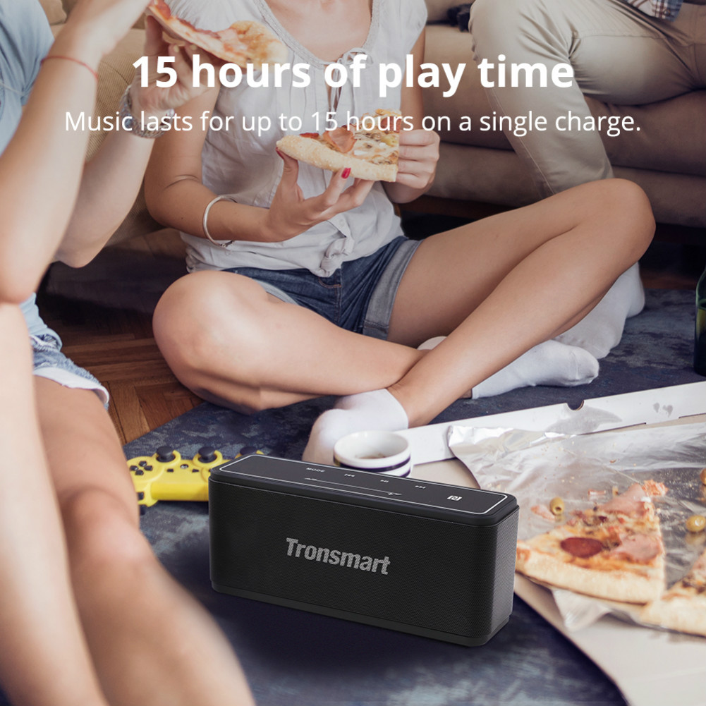 bluetooth-speakers [2 Packs] Tronsmart Element Mega SoundPulse™ Bluetooth Speaker with Powerful 40W Max Output 3D Digital Sound TWS Intuitive Touch Control-Black Tronsmart Element Mega Bluetooth Speaker 4