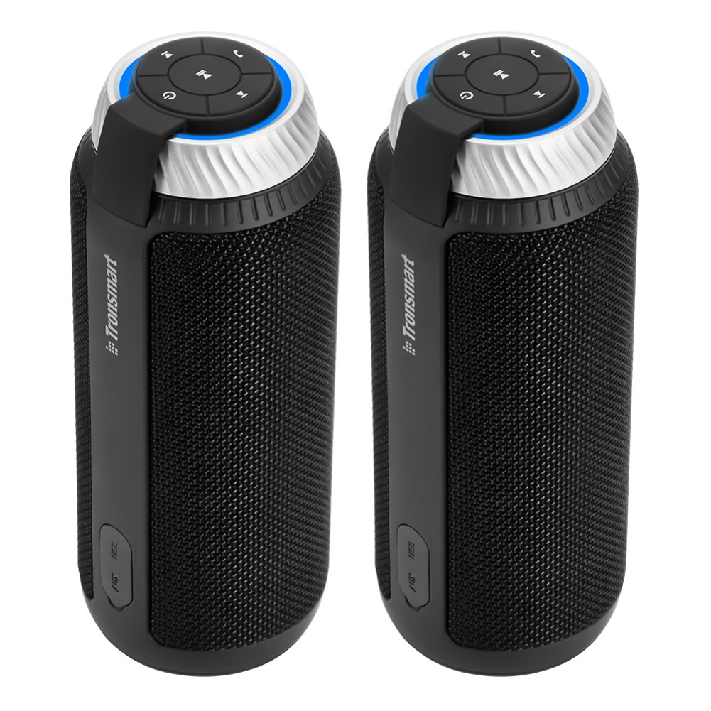 bluetooth-speakers [2 Packs]Tronsmart Element T6 25W Portable Bluetooth Speaker with 360 Degree Stereo Sound and Built-in Microphone-Black Tronsmart Element T6 Bluetooth Speaker