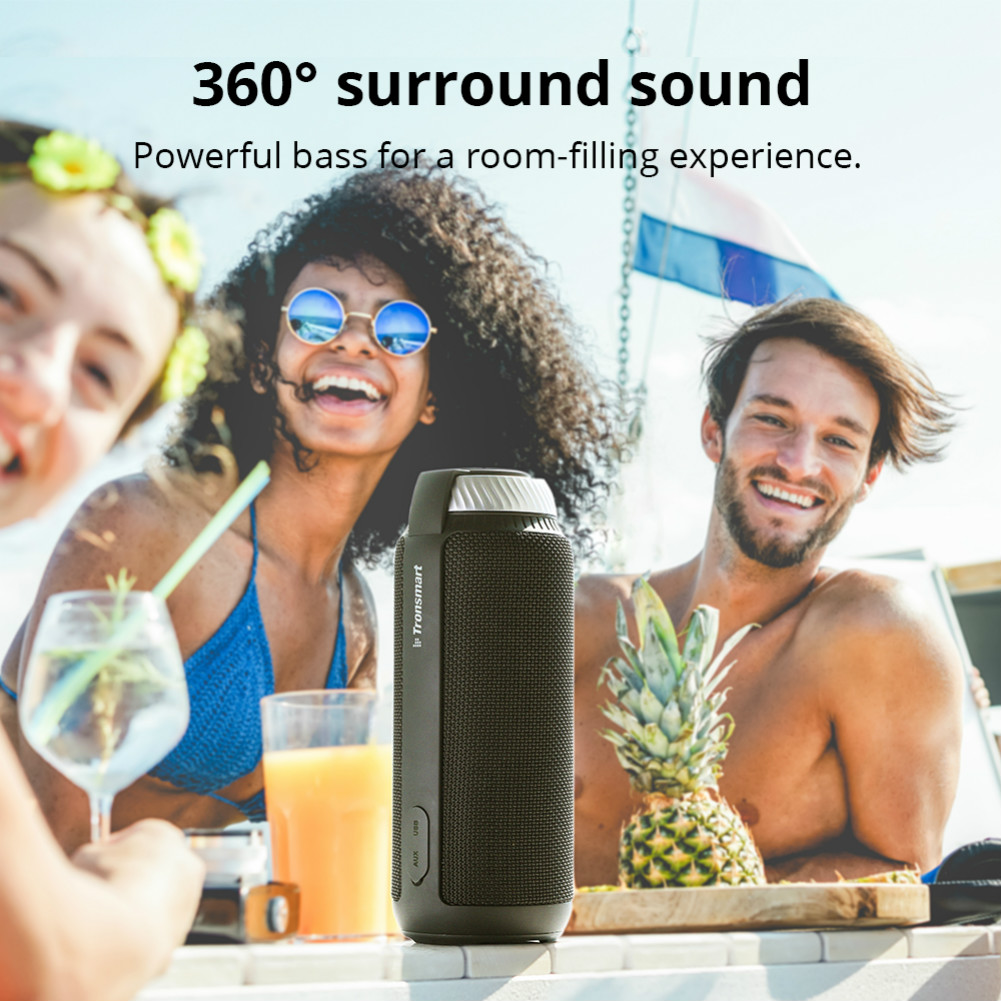bluetooth-speakers [2 Packs]Tronsmart Element T6 25W Portable Bluetooth Speaker with 360 Degree Stereo Sound and Built-in Microphone-Black Tronsmart Element T6 Bluetooth Speaker 2