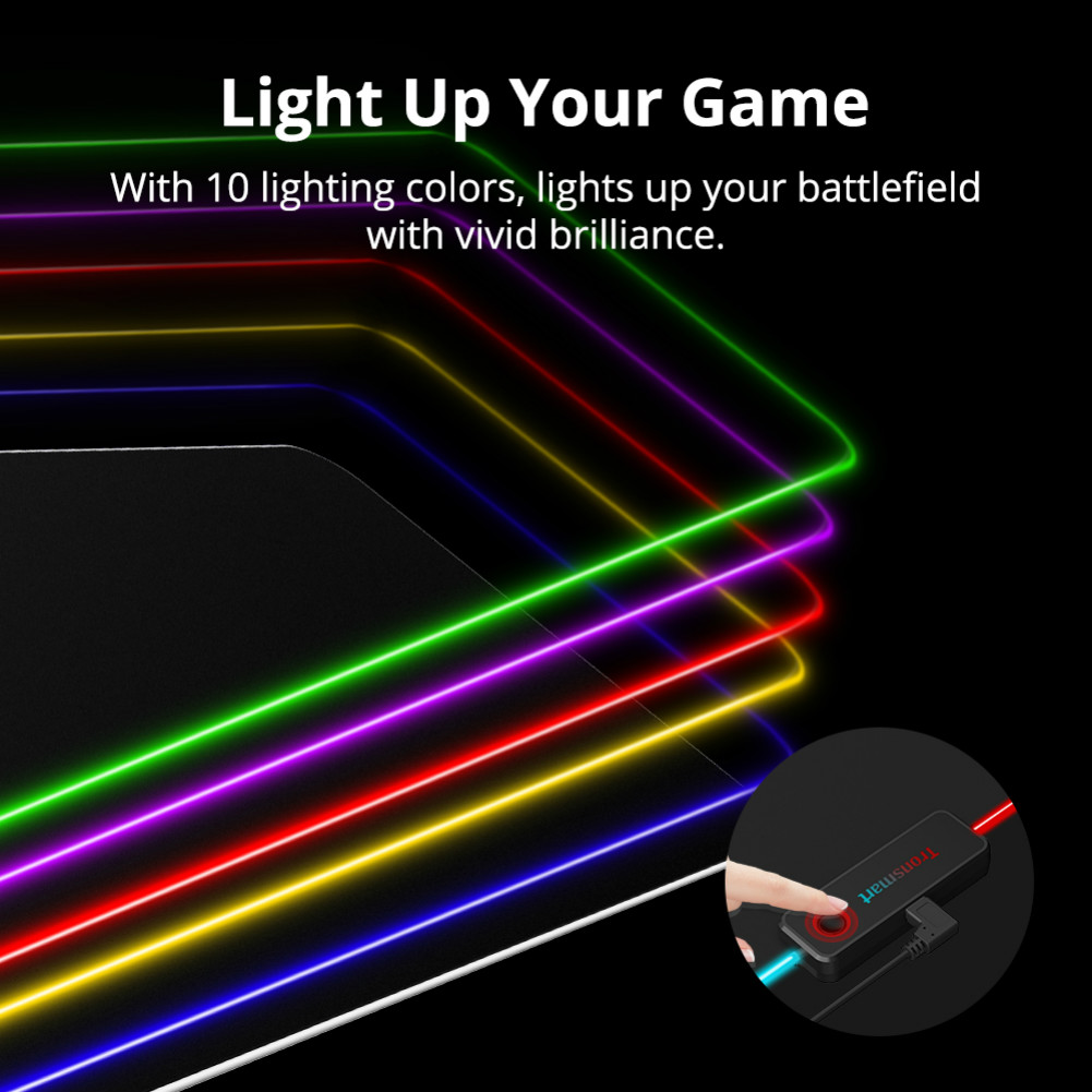 mouse-pads Tronsmart Spire RGB Gaming Mouse Pad Mat with Micro-textured Cloth Surface Non-slip Base for Gamers Tronsmart Spire RGB Gaming Mouse Pad 2