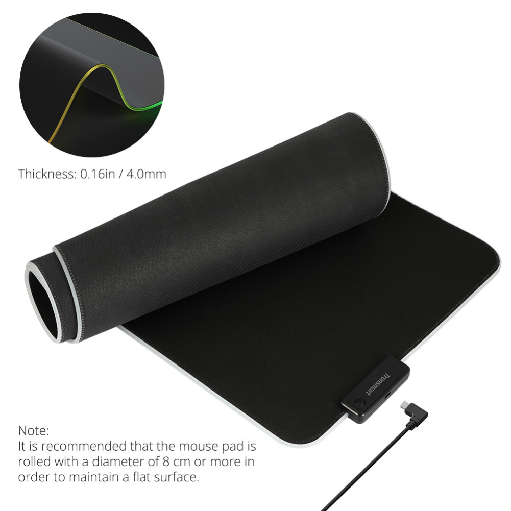 mouse-pads Tronsmart Spire RGB Gaming Mouse Pad Mat with Micro-textured Cloth Surface Non-slip Base for Gamers Tronsmart Spire RGB Gaming Mouse Pad 7