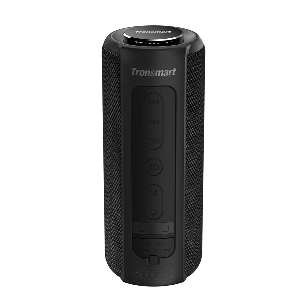 bluetooth-speakers [2 Packs]Tronsmart Element T6 Plus Portable Bluetooth 5.0 Speaker with 40W Max Output, Deep Bass, IPX6 Waterproof, TWS-Black Tronsmart element T6 plus Black 1