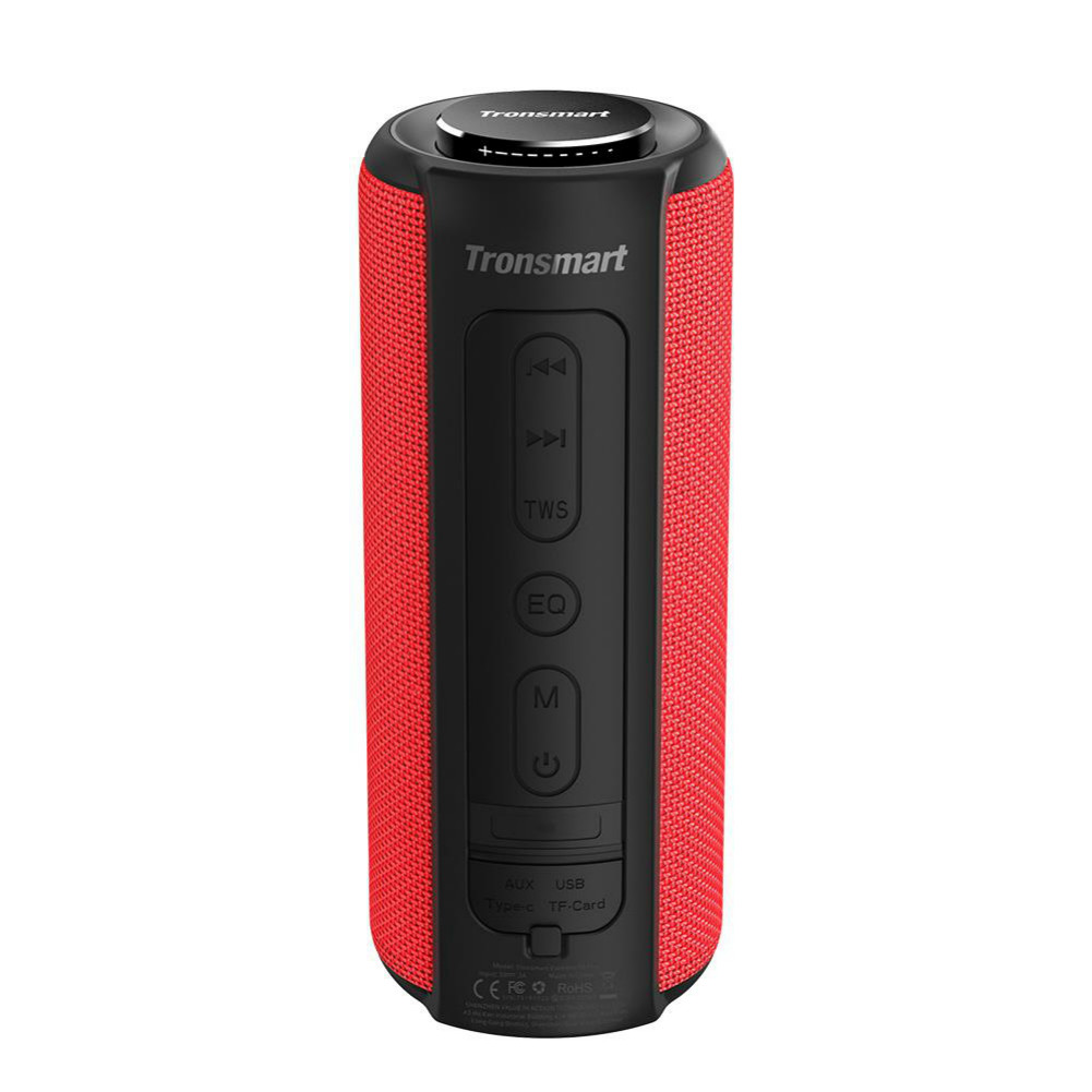 bluetooth-speakers Tronsmart Element T6 Plus Portable Bluetooth 5.0 Speaker with 40W Max Output, Deep Bass, IPX6 Waterproof-Red Tronsmart element T6 plus