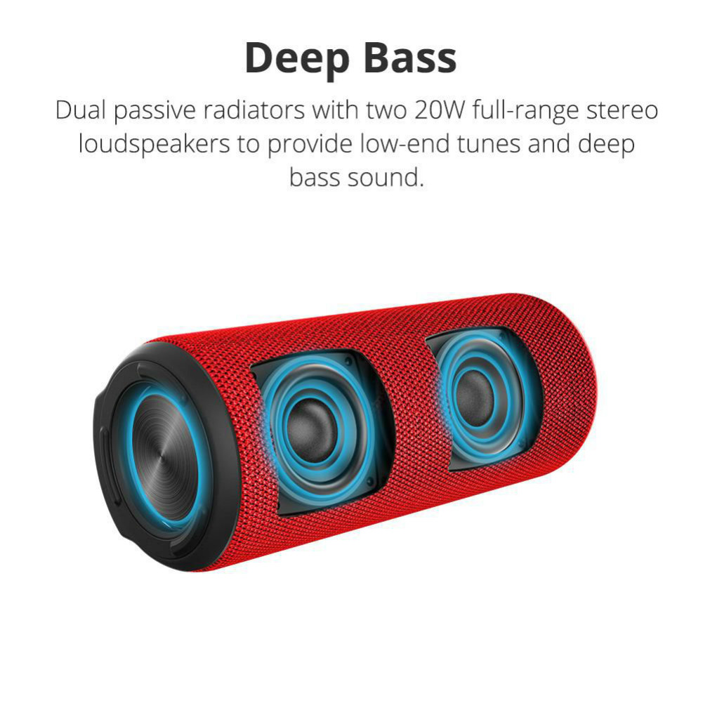 bluetooth-speakers Tronsmart Element T6 Plus Portable Bluetooth 5.0 Speaker with 40W Max Output, Deep Bass, IPX6 Waterproof-Red Tronsmart element T6 plus 3