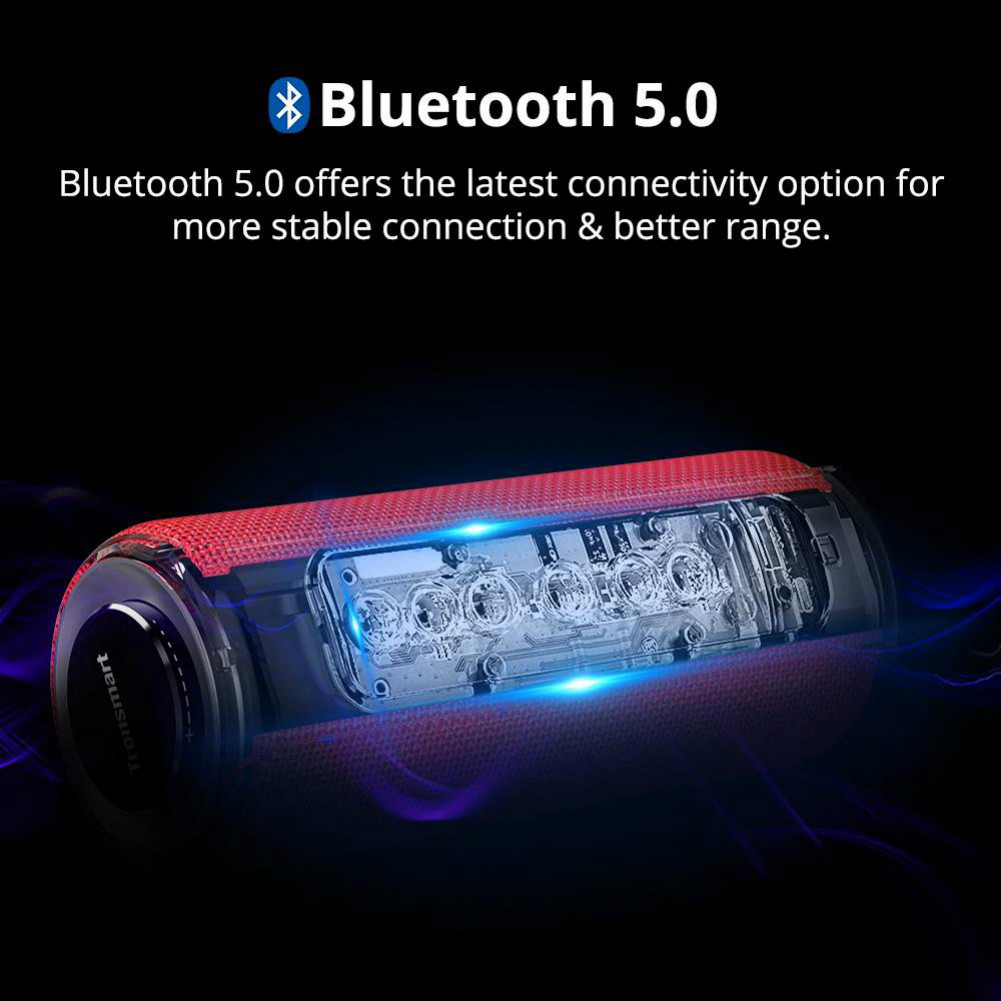 bluetooth-speakers Tronsmart Element T6 Plus Portable Bluetooth 5.0 Speaker with 40W Max Output, Deep Bass, IPX6 Waterproof-Red Tronsmart element T6 plus 6