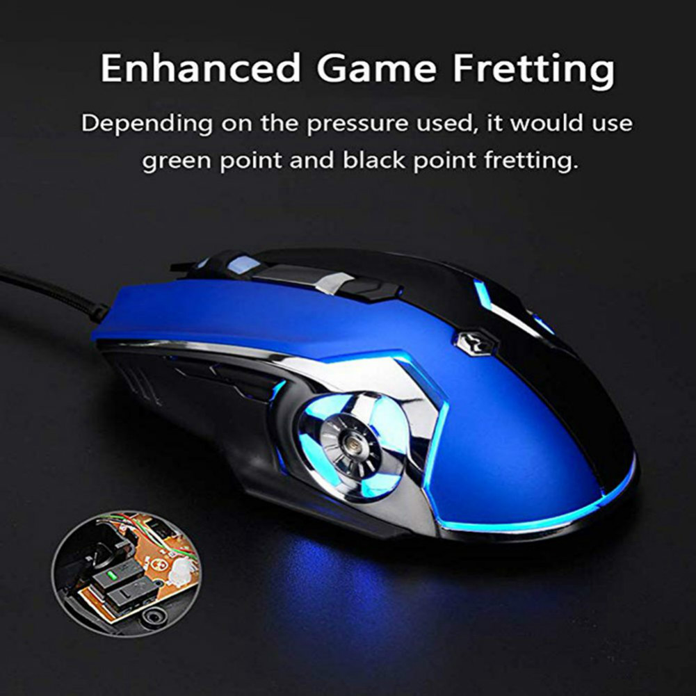 wired-mouse Ajazz AJ120 USB Wired Gaming Mouse 3200DPI 6 Keys Customized Macro Programmable Buttons For Home Office - Black Ajazz AJ120 USB Wired Gaming Mouse 3