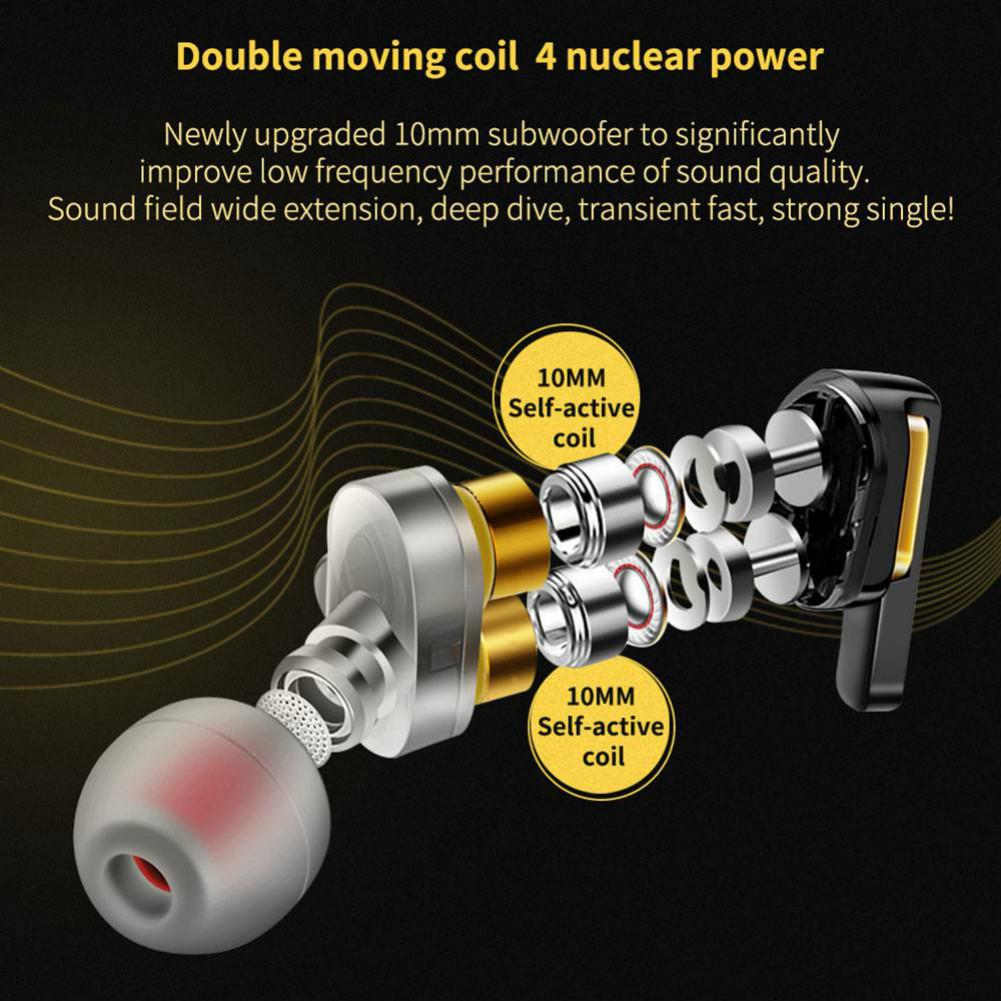 earbud-headphones QKZ CK3 Wired Earphones Bass Stereo In-Ear With Mic-White QKZ CK3 Earphones In Ear White 3