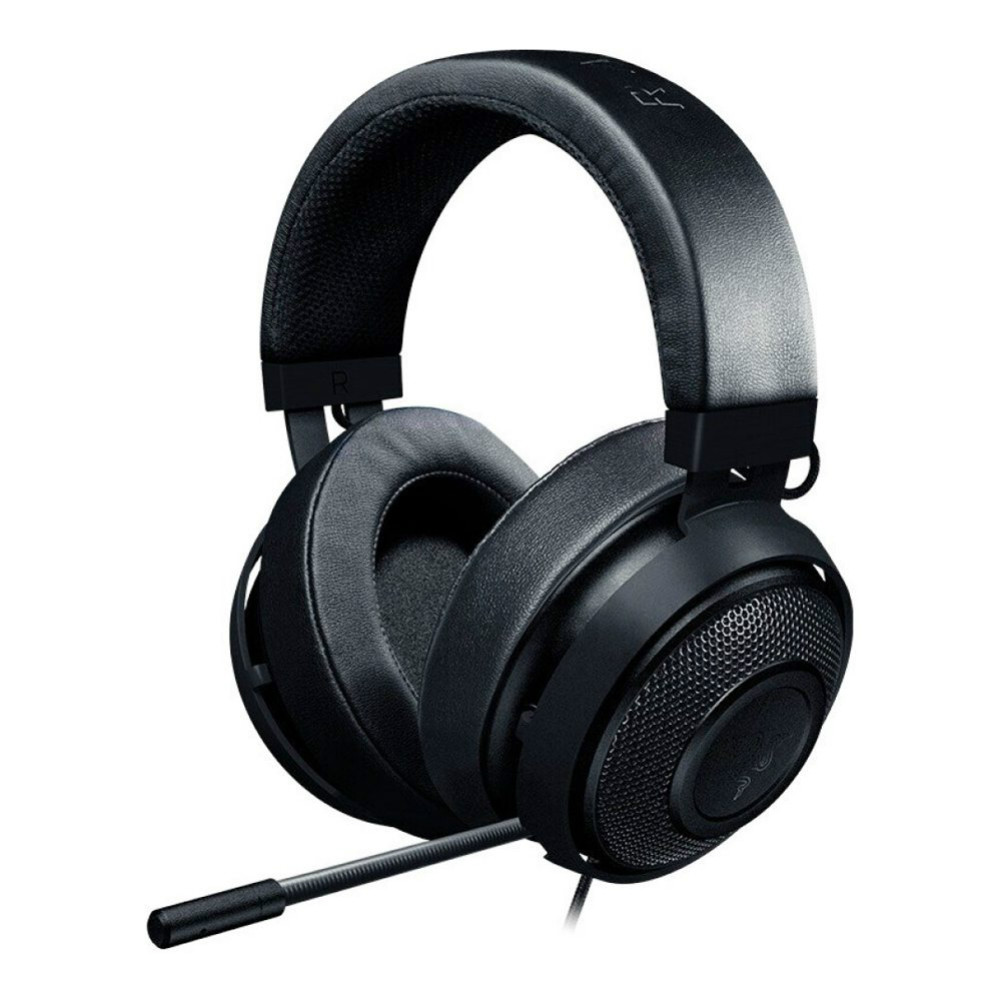 on-ear-over-ear-headphones Razer Kraken 3.5mm Gaming Headset In-Line Audio Controls Noise Cancelling for PC PS4 N-Switch-Black Razer Kraken Gaming Headset