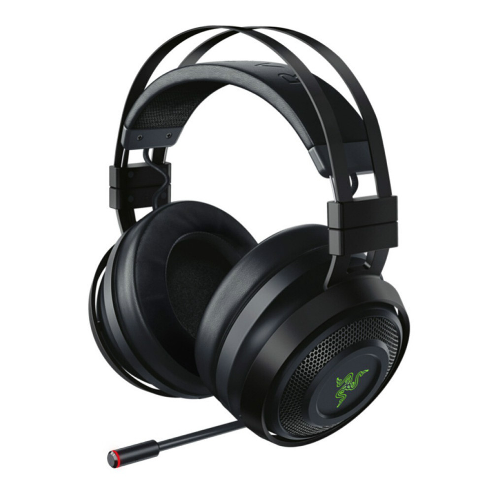 on-ear-over-ear-headphones Razer Nari Wireless 2.4GHz Gaming Headset THX Spatial Audio with Cho-Black Razer Nari Wireless Gaming Headset Black