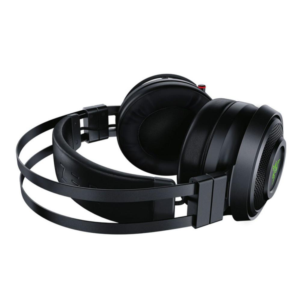 on-ear-over-ear-headphones Razer Nari Essential 2.4G Wireless Gaming Headset THX Spatial Audio Virtual 7.1 Channel for PC/MAC/PS4-Black Razer Nari Wireless Gaming Headset Black 4 1