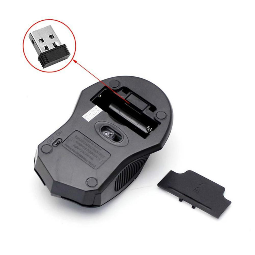 wireless-mouse TB05700 2.4 G Wireless Optical Mouse USB 2.0 Receiver for PC Laptop-Black TB05700 Wireless USB Optical Mouse Black 3