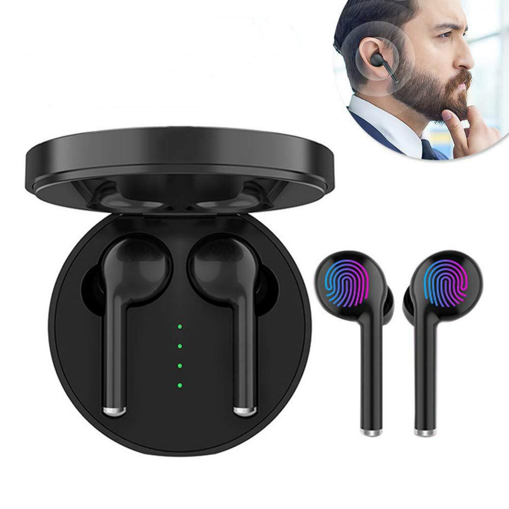 earbud-headphones TW40 Bluetooth 5.0 TWS Earbuds Stereo HiFi Sound 500 mAh Charger Battery Siri Assistant-Black TW40 TWS Bluetooth 5 0 Earphone Black 3