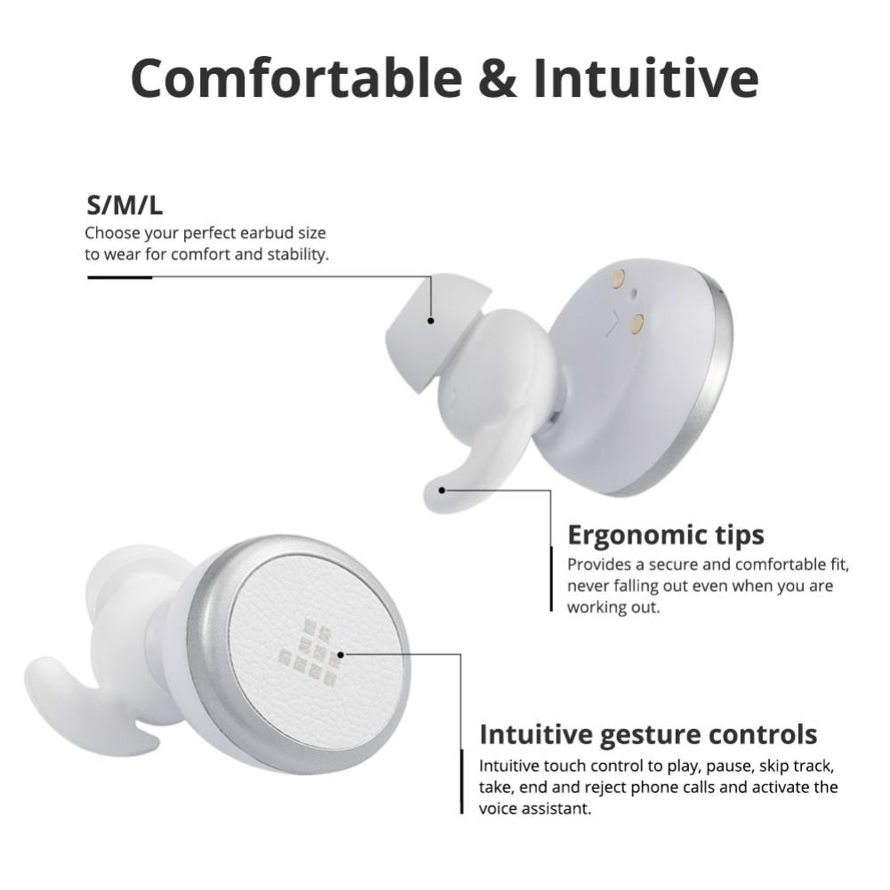 earbud-headphones Tronsmart Encore Spunky Buds Bluetooth 5.0 TWS Earbuds 12 Hours Playtime Siri Assistant IPX5 Water Resistant-White Tronsmart Encore Spunky Buds Headphones White 5