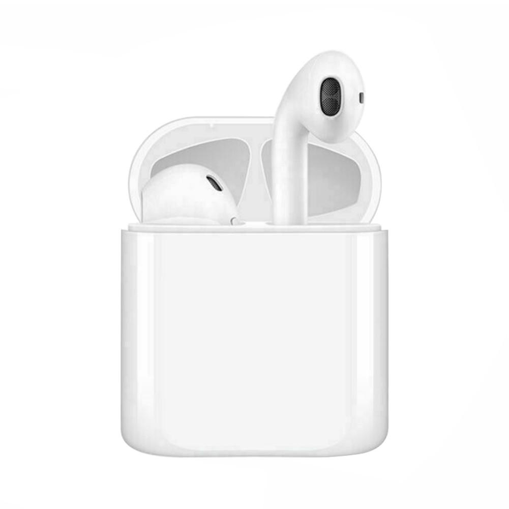 earbud-headphones i20 TWS Bluetooth 5.0 Earphones  Stereo HiFi Sound Bilateral Call350mAh Charging Bin Siri Assistant-White i20 Bluetooth 5 0 TWS Earphones White