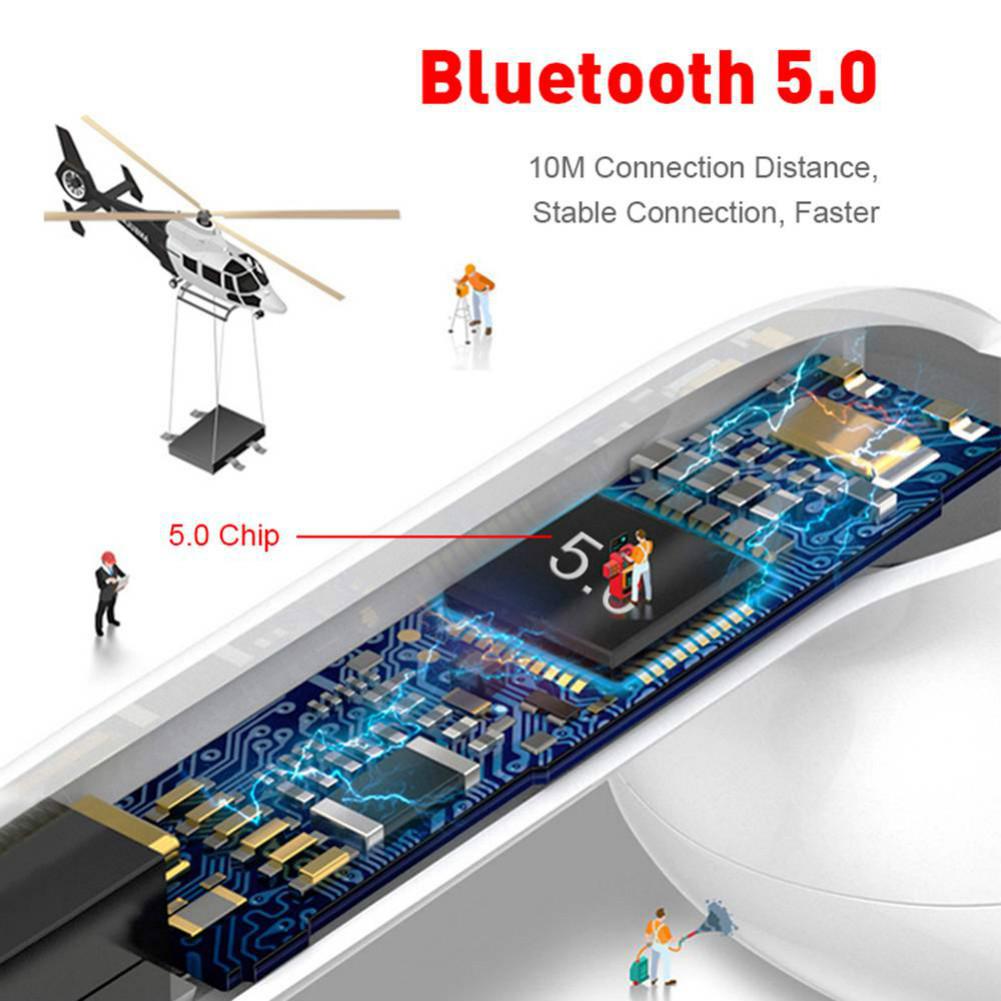 earbud-headphones i20 TWS Bluetooth 5.0 Earphones  Stereo HiFi Sound Bilateral Call350mAh Charging Bin Siri Assistant-White i20 Bluetooth 5 0 TWS Earphones White 3