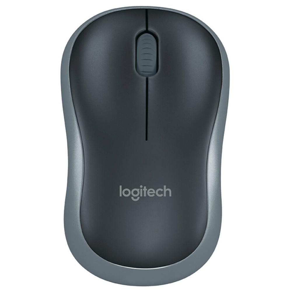 wireless-mouse Logitech M185 Wireless Mouse 3 Buttons Ambidextrous Design 1000 DPI-Black Logitech M185 Office Wireless Mouse
