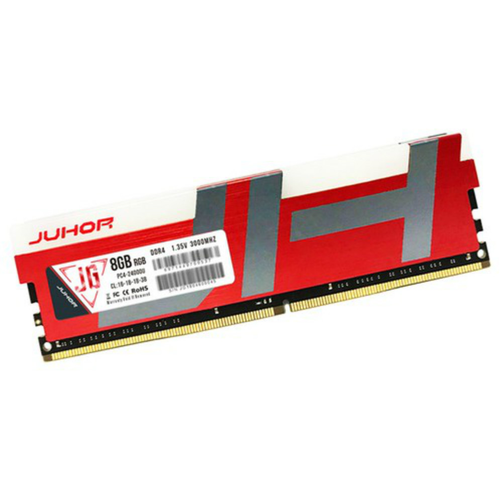memory-modules-Juhor DDR4 3000Mhz 8GB 288 Pin RAM 1.35V Desktop Memory Module For PC Computer - Red-Juhor DDR4 8GB 3000Mhz Memory Module 3