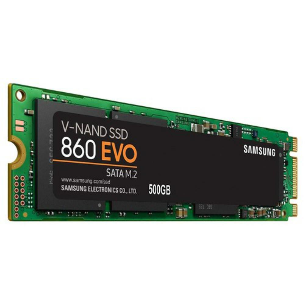 storage Samsung 860 EVO M.2 500GB SSD Max Speed 550 MB/s SATA3 Interface Solid State Drive-Black Samsung 860 EVO M 2 Internal SSD 500GB 2