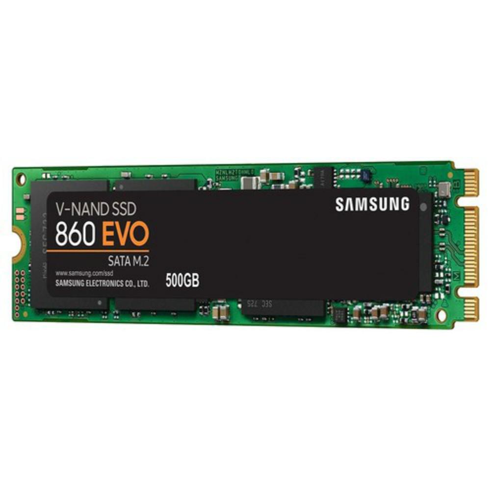 storage Samsung 860 EVO M.2 500GB SSD Max Speed 550 MB/s SATA3 Interface Solid State Drive-Black Samsung 860 EVO M 2 Internal SSD 500GB 3