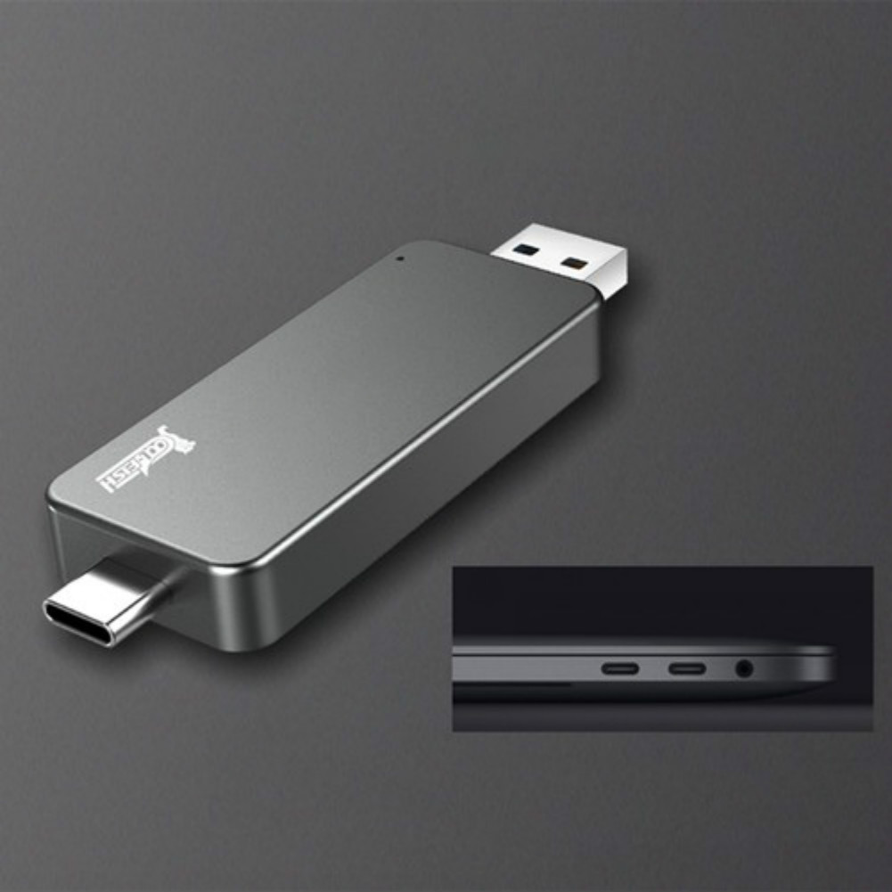 storage Coolfish GO NGFF 1TB SSD M.2 Interface Max Read Speed 480MB/S  Dual-purpose External Solid State Drive-Dark Gray coolfish go 1tb solid state drive 3