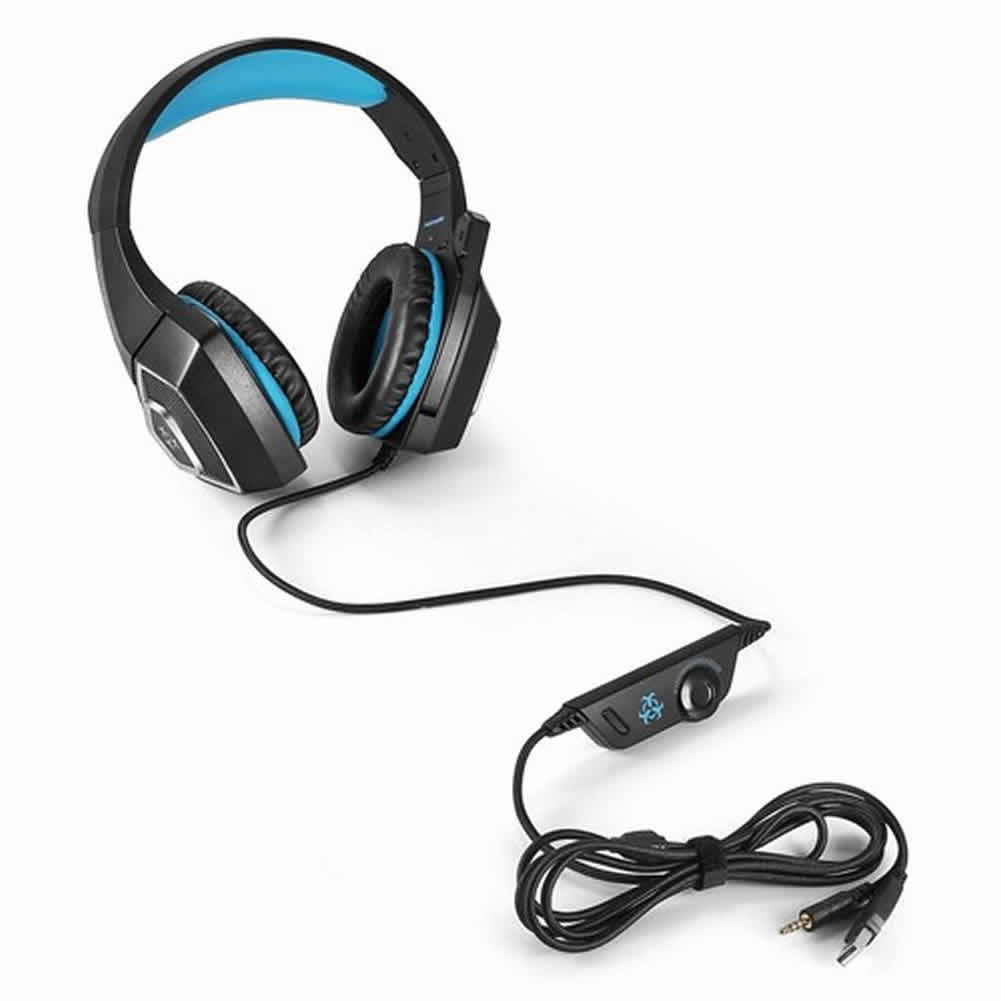 on-ear-over-ear-headphones-Hunterspider V1 Gaming Headset  RGB Light 3.5mm Audio+USB Port with Mic for Desktop PC-Black+Blue-hunterspider v1 gaming headset 4